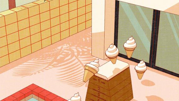 【検証】ソフトクリームをプールに入れたらどうなっちゃうの〜!?【小森香乃】