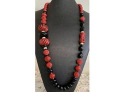 Cinnabar Carved Bead Necklace.jpeg