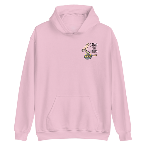 Felpa con cappuccio ricamata (Hoodie) - Salad is for Losers
