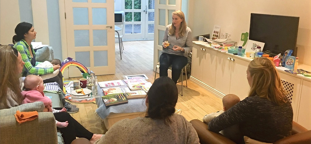 Claire hosting a group session
