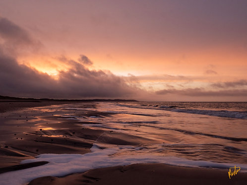 Solnedgang over Tranum strand