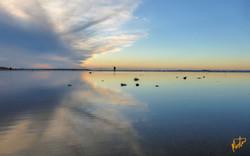 Lille speil på stranden der...