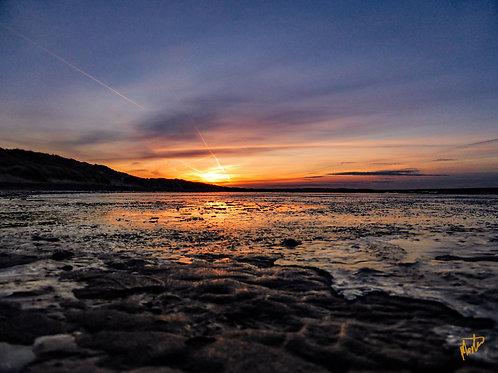 Vintersolnedgang over Tranum strand