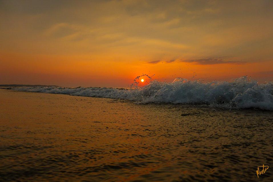 Havet fanger solen