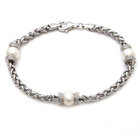 Sterling Silver FW Pearl Bracelet