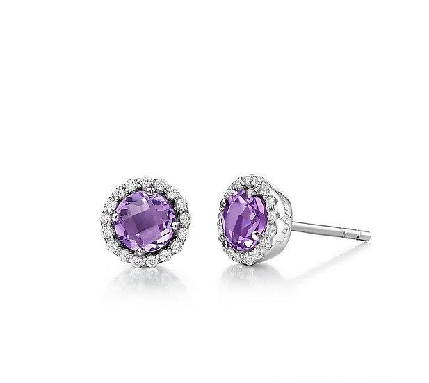 Lafonn Amethyst Stud Earrings
