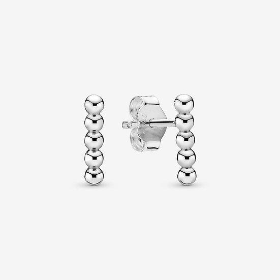 Pandora Row of Beads Stud Earrings