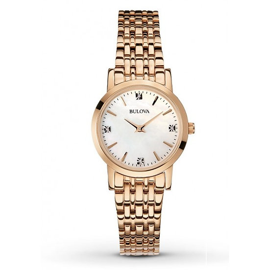 Bulova Rose Gold Mother of Pearl Dial Ladies Watch