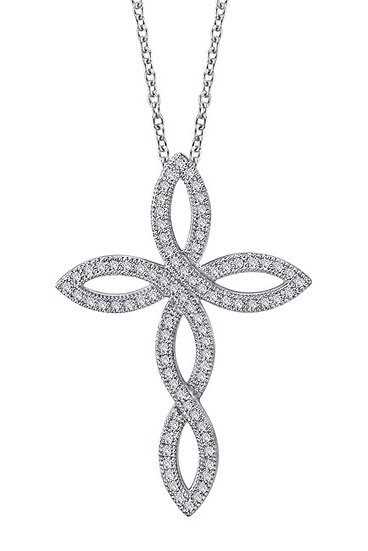 Lafonn Pave Open Cross Necklace