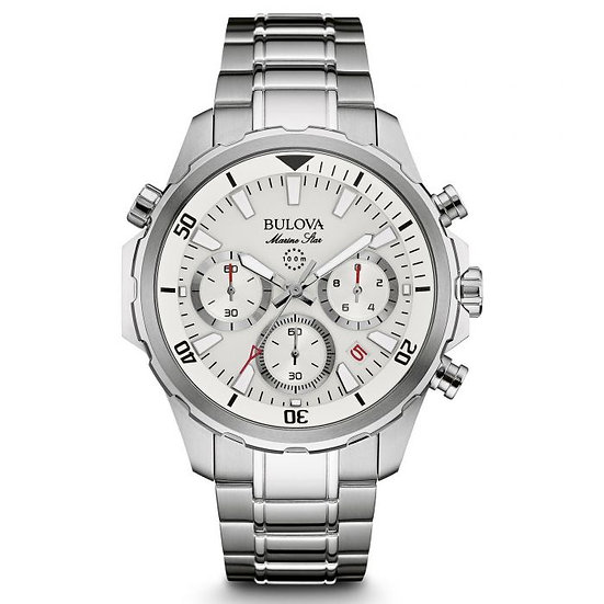 Bulova Marine Star Chronograph Stainless Steel Watch