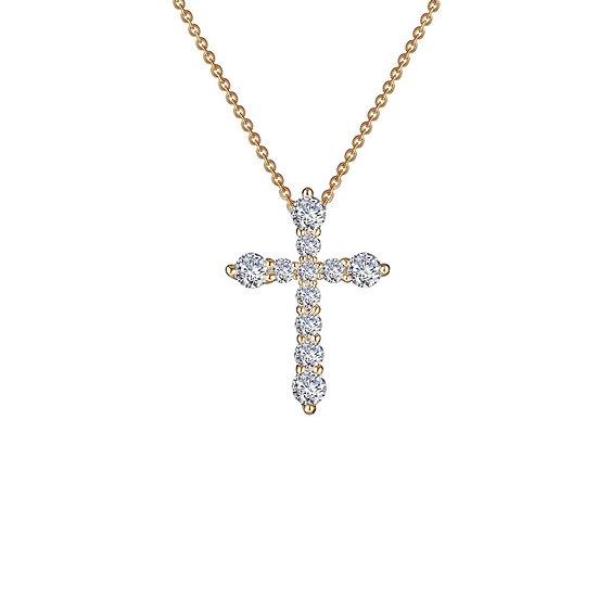 Lafonn YG Plated Cross Necklace