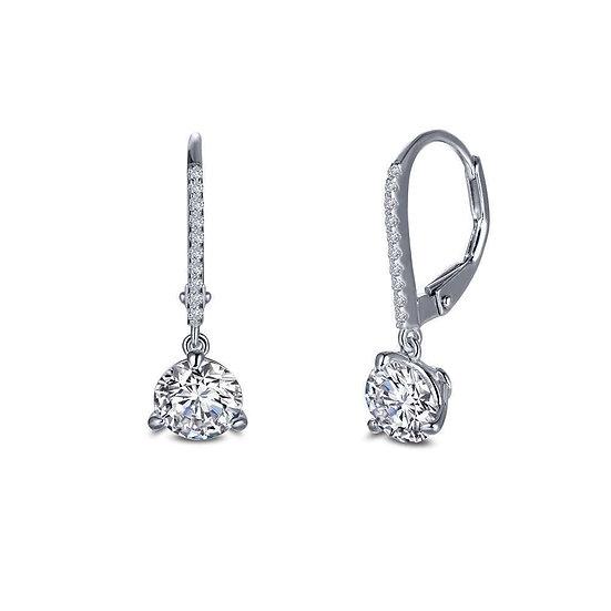 Martini-Set Solitaire Drop Earrings