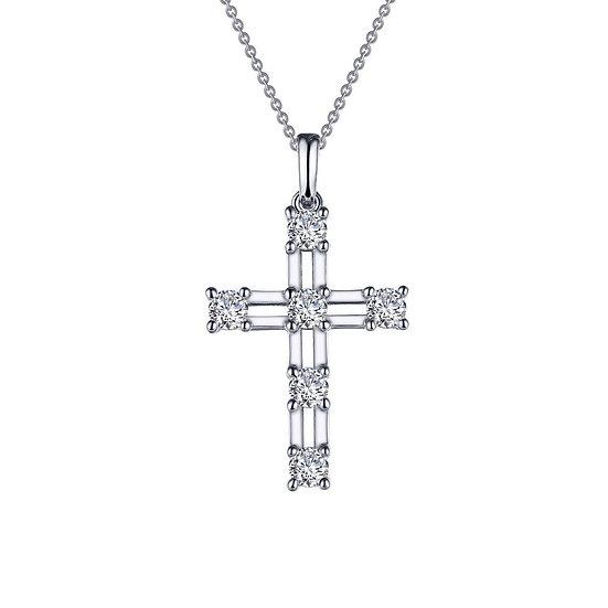 Lafonn Lattice Cross Necklace
