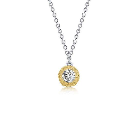 Lafonn Brushed Gold Necklace