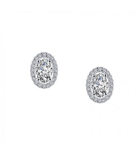 Oval Stud Earrings