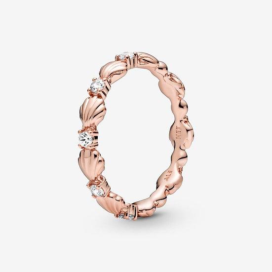 Pandora Sparkling Seashell Band Ring