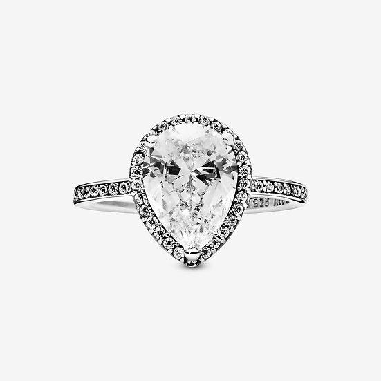 Pandora Sparkling Teardrop Halo Ring