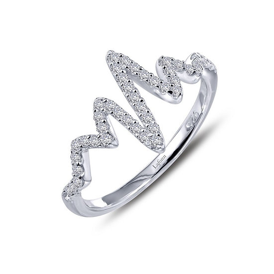 Lafonn Simulated Diamond Heartbeat Ring