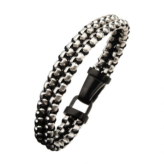 Steel & Paracord Box Chain Link Bracelet