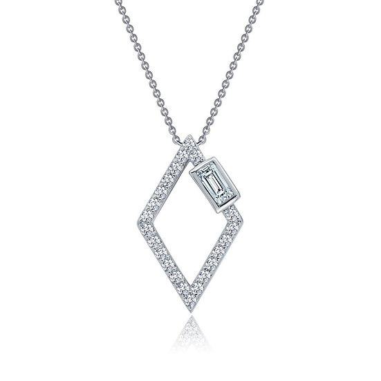 Open Diamond Shaped Necklace