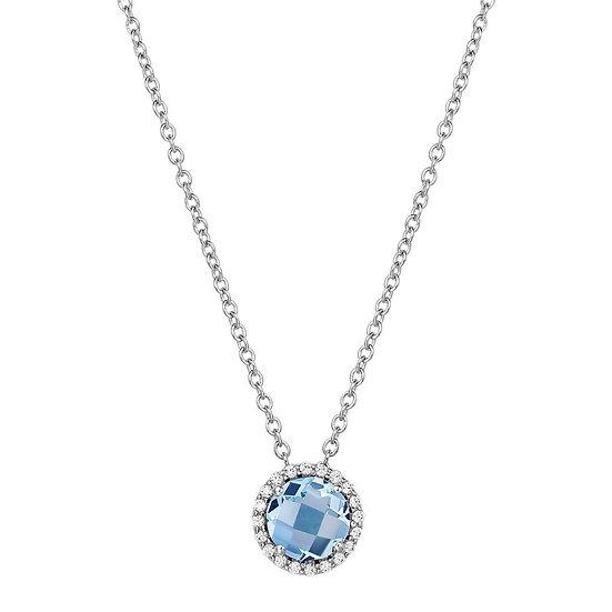 Lafonn Simulated Aquamarine Necklace