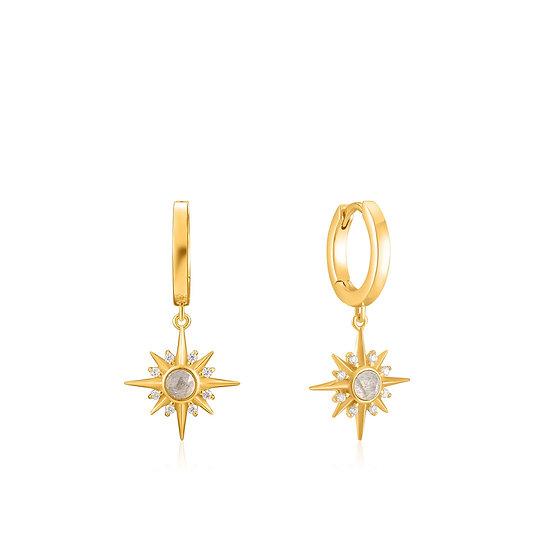 Midnight Star Huggie Hoop Earrings