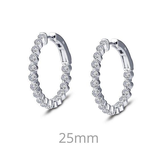 Lafonn Simulated Diamond Hoop Earrings