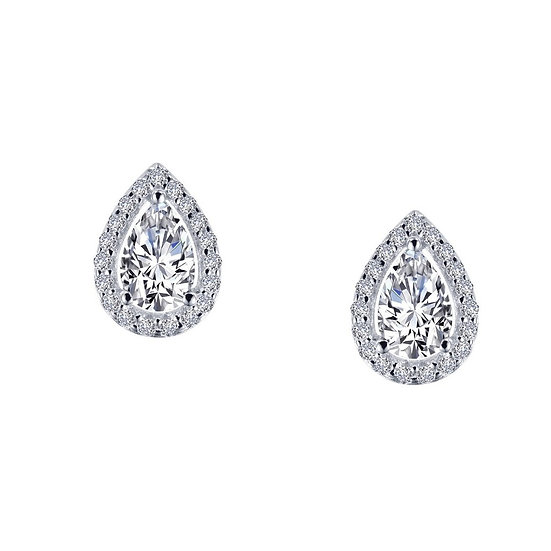 Lafonn Pear Shaped Simulated Diamond Earrings