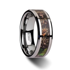 Camo Tungsten Carbide Wedding Band