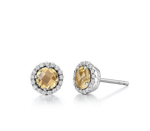 Lafonn Citrine Stud Earrings