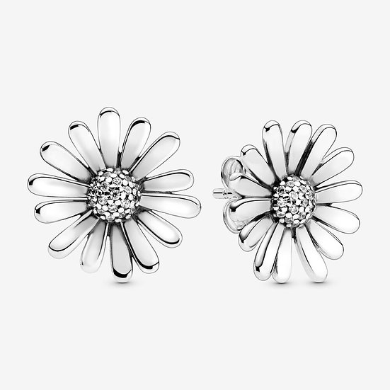 Pandora Pavé Daisy Flower Statement Stud Earrings
