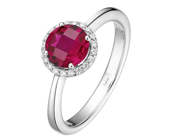 Lafonn Lab Grown Ruby Ring