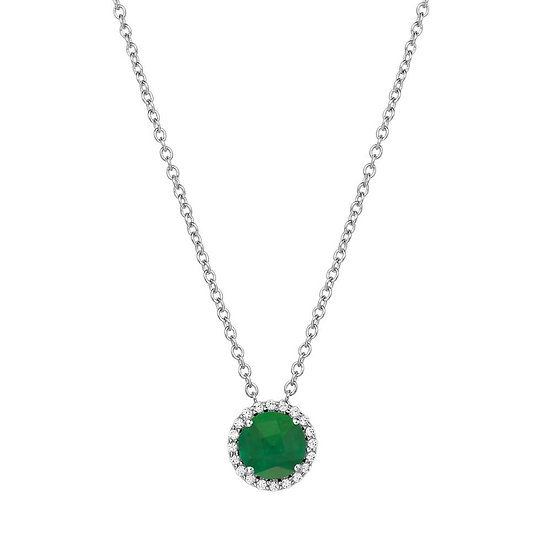 Lafonn Simulated Emerald Necklace