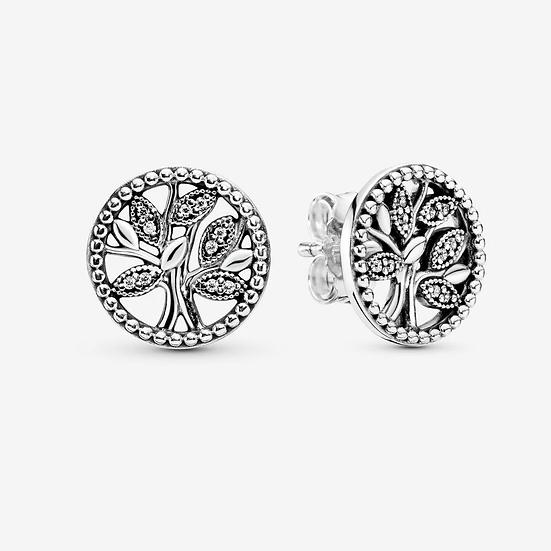 Pandora Sparkling Family Tree Stud Earrings