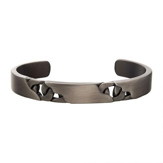 Stainless Steel & Gun Metal Bracelet