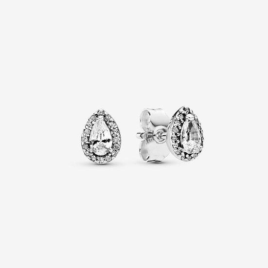 Pandora Sparkling Teardrop Halo Stud Earrings