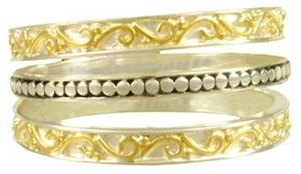 Sterling Silver and YG Vermeil Ring