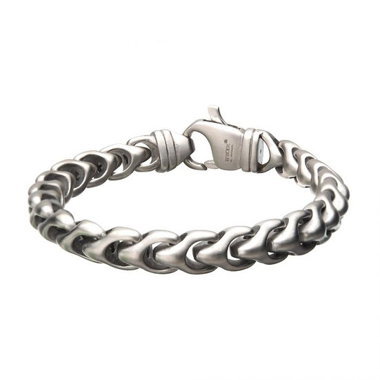 Matte Stainless Steel Big Chain Bracelet