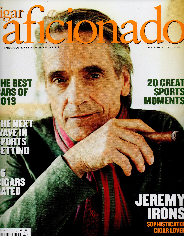 Cigar Aficionado - Jeremy Irons