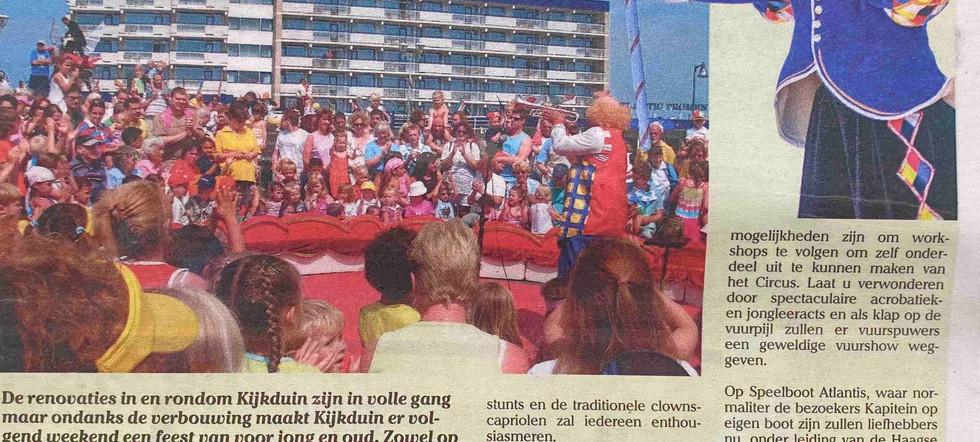 Kijkduin circus cirque masqué entertainm