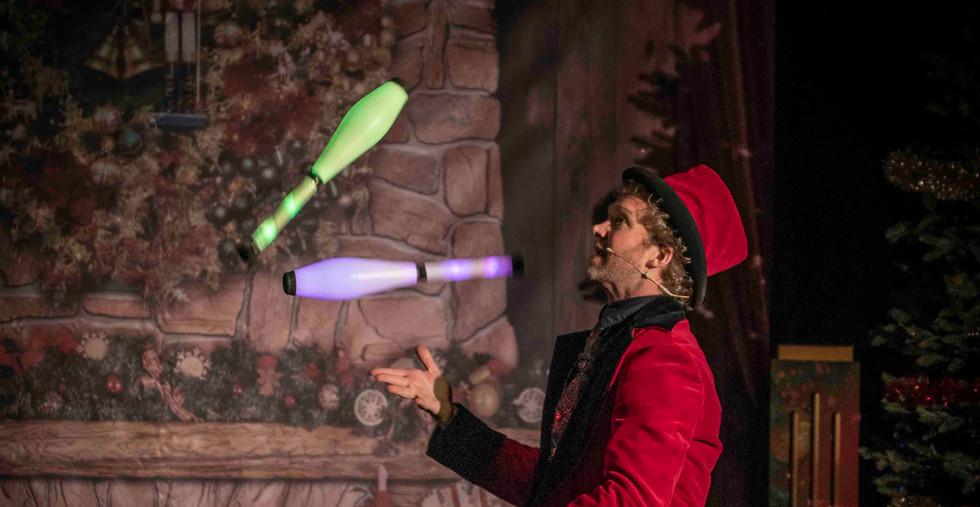 Showman Jovel Goochelaar Kerst Circus Ar
