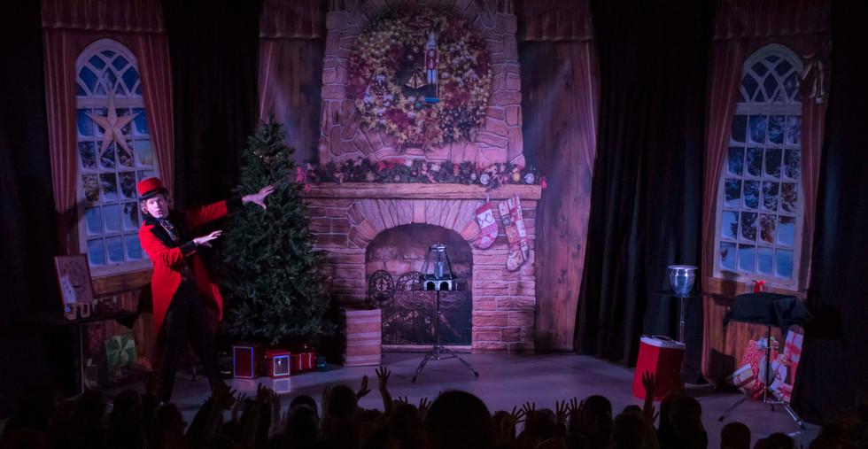 Theatervoorstelling kerst goochelaar sho