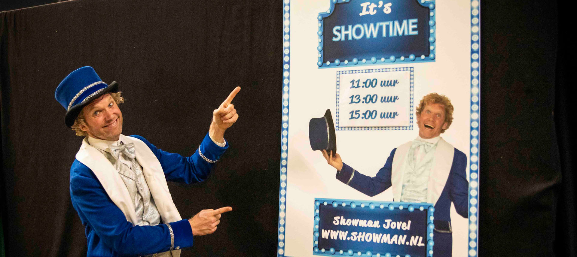 Showman Jovel theater show jeugdvakantie