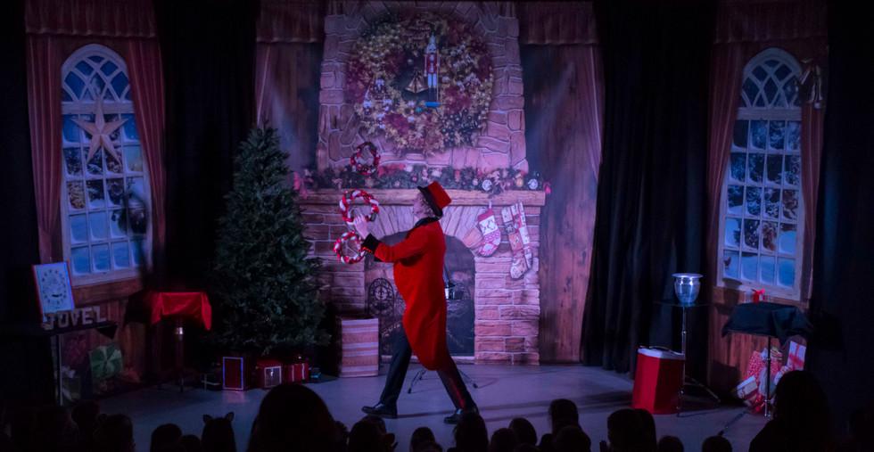 Kerst goochelaar voorstelling kerstmis k