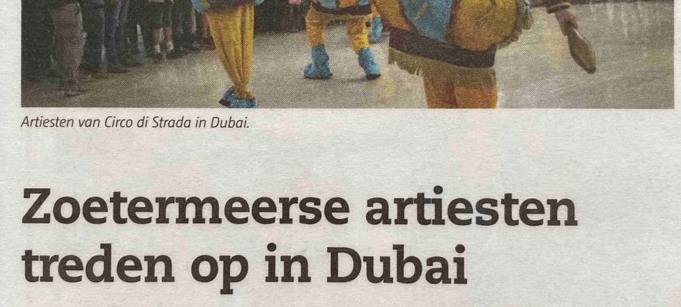 Dubai Circo di Strada Shopping Mall Ente