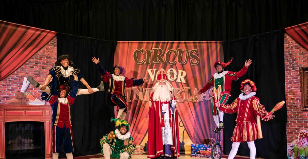 Circus voor Sinterklaas roetveegpieten s