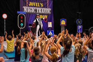 Magic Traffic Show verkeer thema opening