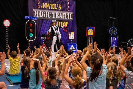 Magic Traffic Show verkeer thema opening