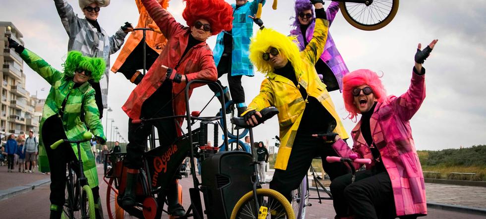 UniQcycle bicycle parade cycling enterta