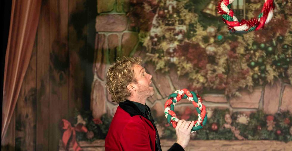 Showman Goochelaar Kerst Kinderen voorst